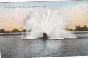 New York Rochester The Fountain At The Reservoir 1907