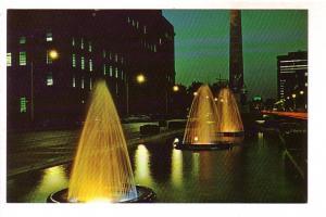 University Avenue at Night, Fountains, Toronto, Ontario,