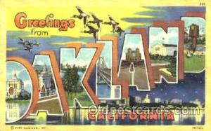 Oakland, California, USA Large Letter Town Postcard Postcards  Oakl&, Califor...