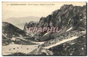 Postcard Bagneres de Bigorre Old Pass Road Sencours Pic du Midi