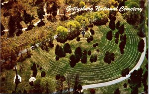 Postcard PA Pennsylvania Gettysburg Soldiers National Cemetery Aerial Unposted