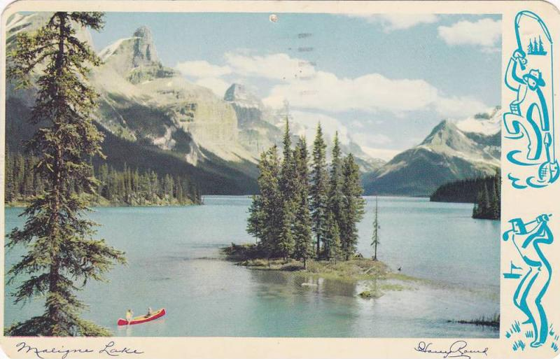 AS: Maligne Lake, famous throughout the world for the beauty Jasper National ...