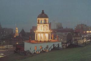 Clock Tower Citadel Hill Halifax Night Illuminations Canada Canadian Postcard