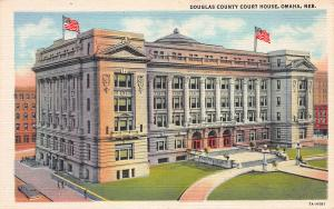 Douglas County Court House, Omaha, Nebraska, Early Postcard, Unused