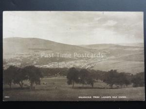 Scotland: Galashiels from LADHOPE GOLF COURSE c1936 by A.R.Edwards
