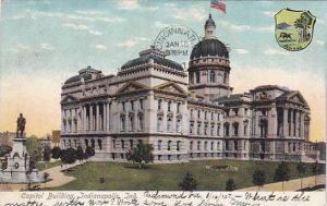 Exterior, Capitol Building, Indianapolis, Indiana,   PU-1907