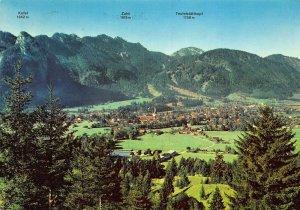 Kofel Zahh Teufelstattkopf Passionsdorf Oberammergau Panorama Postcard