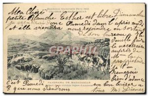 Old Postcard Panorama From Madagascar Travel from lightly column & # 39Andriba