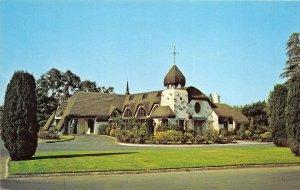 San Jose California 1960s Postcard Oak Hill Mortuary Chapel Funeral Home