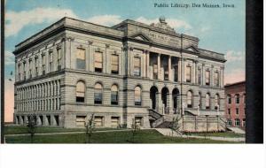 DES MOINES, Iowa; Public Library, PU-1924