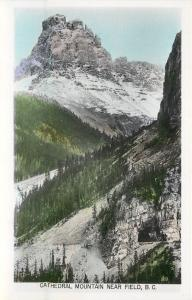 Field BC~Cathedral Mountain~Colorized Real Photo Postcard