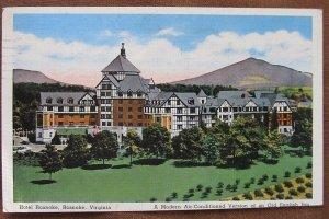 ROANOKE, Virginia ~ Hotel Roanoke Old English Inn (slightly trimmed) Postcard