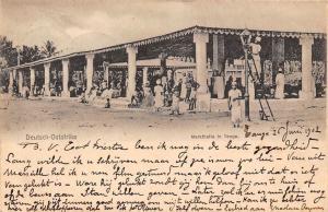 German East Africa Deutsch-Ostafrika Tanzania Markthalle in Tanga 1902