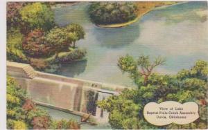 Birds Eye View of Lake Baptist Falls Creek Assembly, Davis Oklahoma 1930-40s
