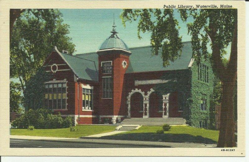 Public Library, Waterville, Maine Linen