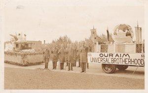 RP; WINNIPEG, Manitoba, Canada, 1931; Parade, Our Aim Universal Brotherhood t...