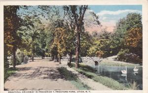 Beautiful Driveway In Frederick T. Proctors Park, Utica, New York, 1910-1920s
