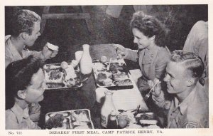 Debarks' First Meal,Camp Patrick,Henry,Virginia, 30-40s