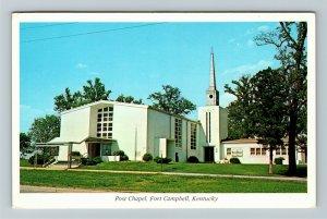 Fort Campbell KY- Kentucky, Post Chapel, Chrome Postcard
