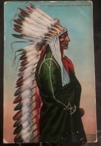 1911 USA Picture Postcard Covers Native American Sioux Indian Chief Standing Bea