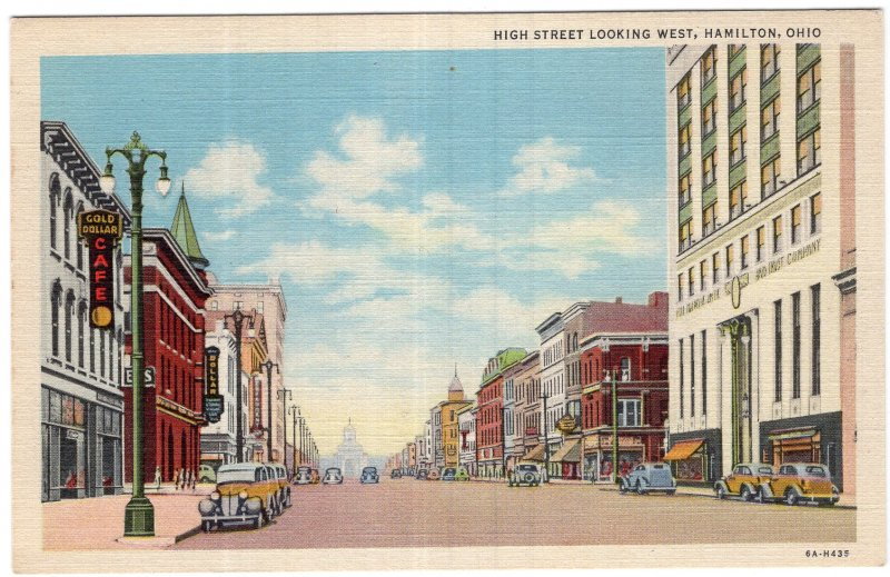 Hamilton, Ohio, High Street Looking West