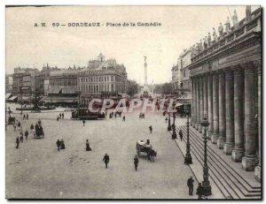 Bordeaux - Place de la Comedie Old Postcard