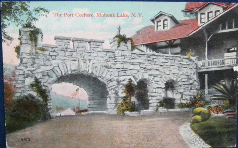 The Port Cochere Mohonk Lake NY Valentine-Souvenir Co