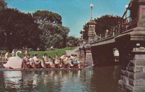 Swan Boats Boston Gardens Boston Massachusetts