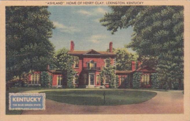 Kentucky Lexington Ashland Home Of Henry Clay