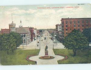 Divided-Back STREET SCENE Lansing Michigan MI W2292