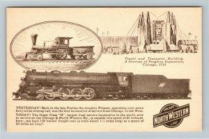 Chicago IL-Illinois, Century of Progress Exposition, North Western Line Postcard
