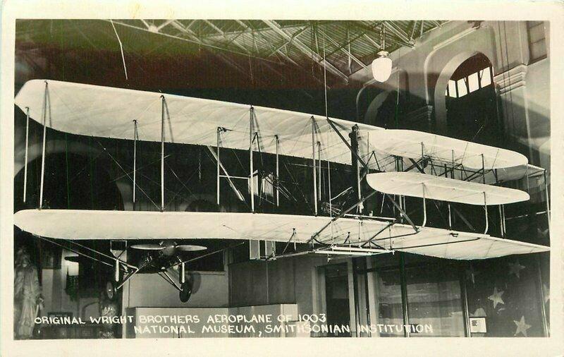 Early Aviation 1950s Wright Brothers Aeroplane 1903 RPPC Photo Postcard 21-4249