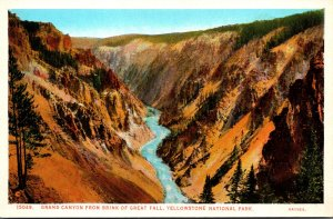 Yellowstone National Park Grand Canyon From Brink Of Great Fall Haynes Photo