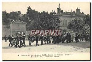 Postcard Old Death Funerals of victims of & # 39explosion the Liberte armor A...