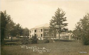 C-1910 PITTSFORD VERMONT Sanitarium RPPC Real Photo postcard 4950