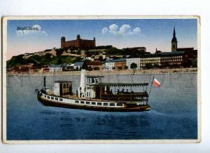 191436 SLOVAKIA BRATISLAVA ship Vintage postcard