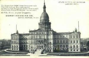 State Capitol Lansing MI Writing On Back