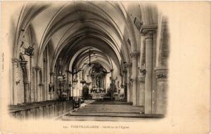 CPA AK VIERVILLE-sur-MER - Intérieur de l'Église (515996)