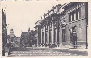 Belgium Brussels Rue de la Regence et Musee Royal de Peinture et de Sculpture