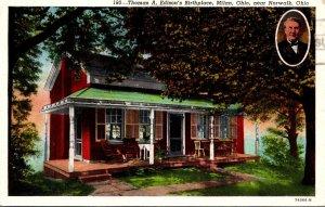 Ohio Milan Thomas A Edison's Birthplace Curteich