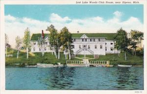 Michigan Alpena Lost Lake Woods Club House Curteich