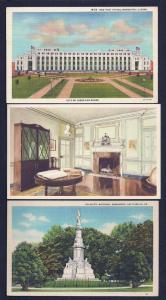 Twelve (12) different 1940's (or earlier) postcards UNUSED