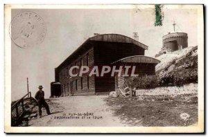 Old Postcard Le Puy de Dome L & # 39Observatoire And The Tower