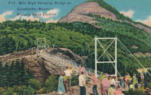 USA Mile High Swinging Bridge on Grandfather Mountain Western  03.68