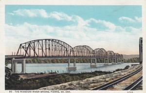 PIERRE, South Dakota, 30-40s; The Missouri River Bridge