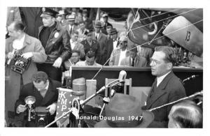 Donald Douglas Aircrafts DC-6 Debut Speech Real Photo Antique Postcard J79638