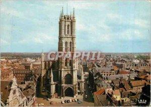 Postcard Modern Ghent Saint Bavo Church