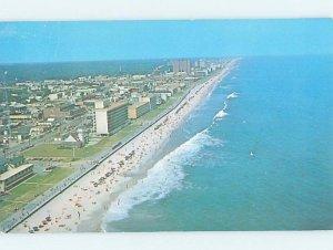 Pre-1980 BEACH SCENE Virginia Beach Virginia VA AE9366