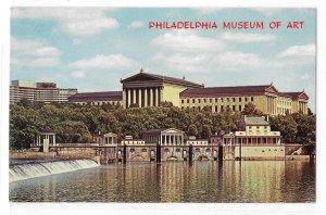 PA Philadelphia Museum of Art Fairmount Dam and Water Works WYCO Postcard