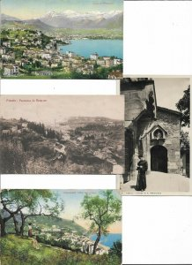 Italy Lugano Fiesole Ospedaletti and more Postcard Lot of 8 with RPPC 01.13